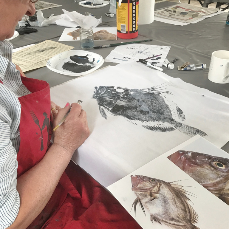 Fish rubbing workshop 19th January